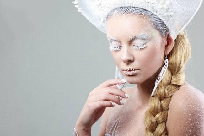 морозный новогодний макияж