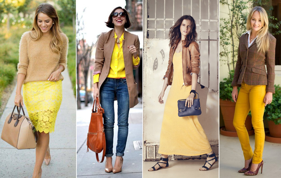 сочетание желтого и коричневого цветов