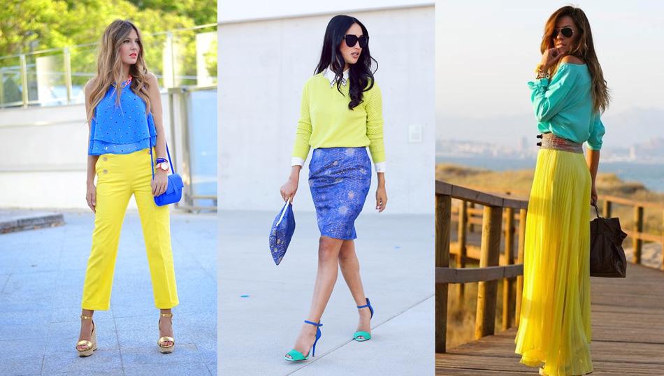 сочетание желтого с голубым цветом