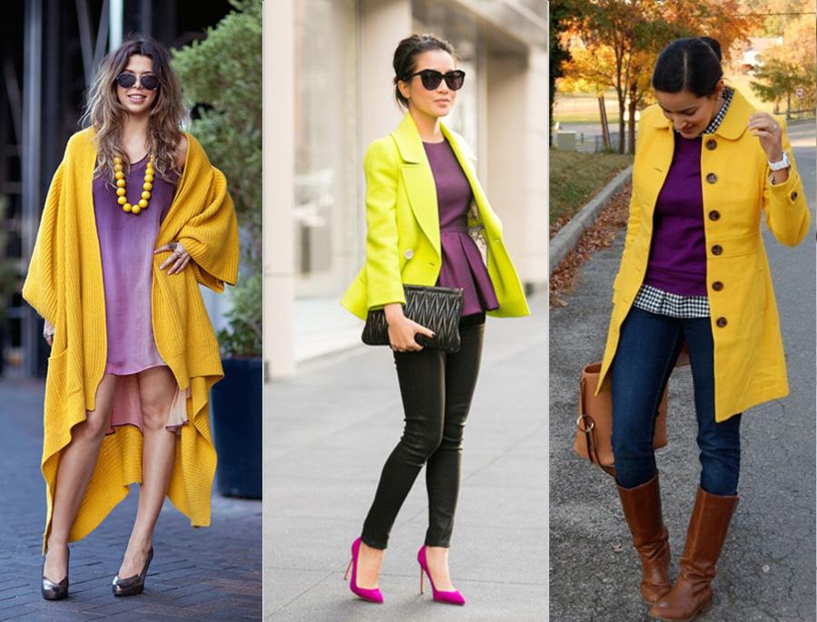 желтый с фиолетовым в сочетании