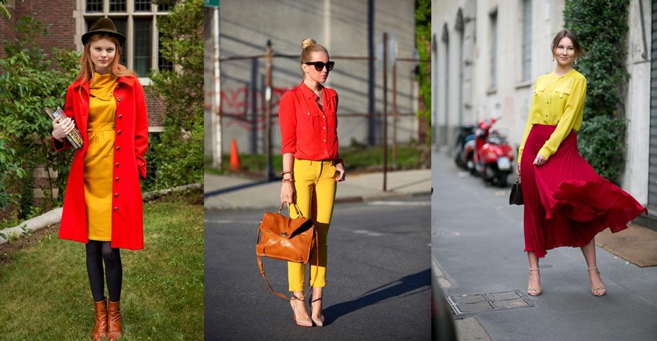 сочетание желтого с красным