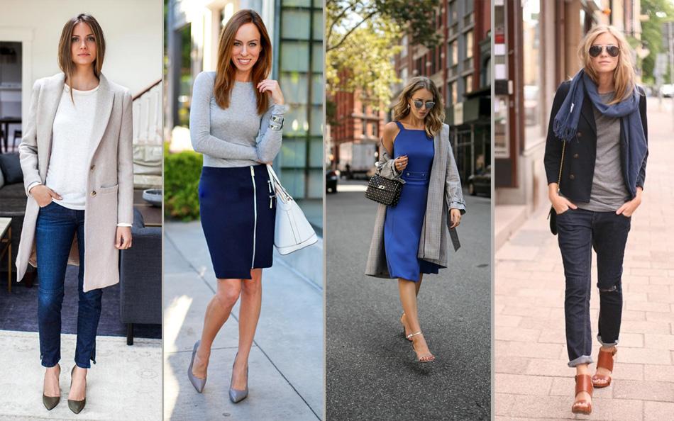 синий с серым в одежде