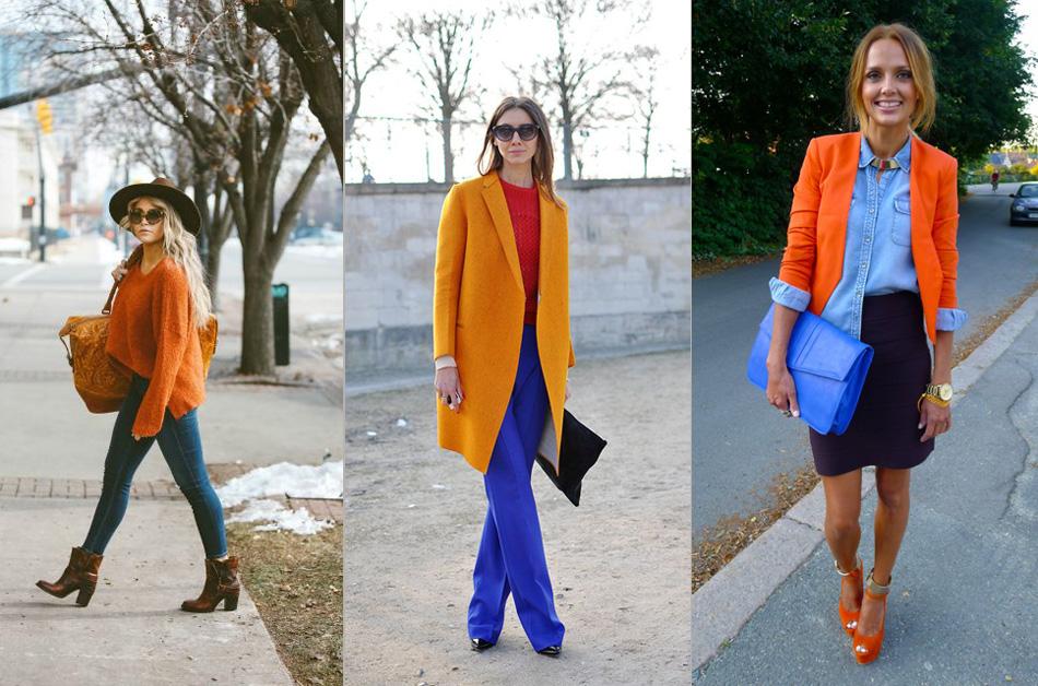 синий и оранжевый в сочетании