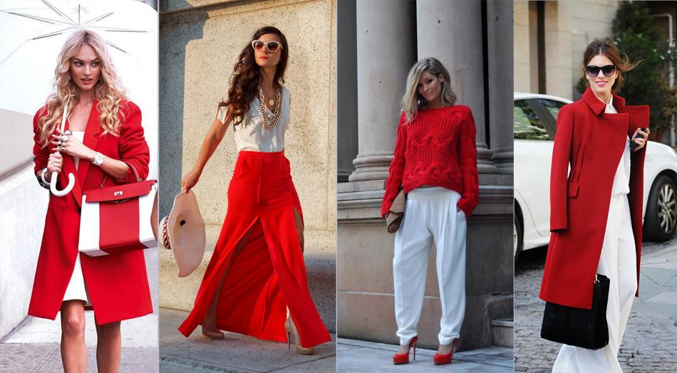 сочетание красного цвета с белым