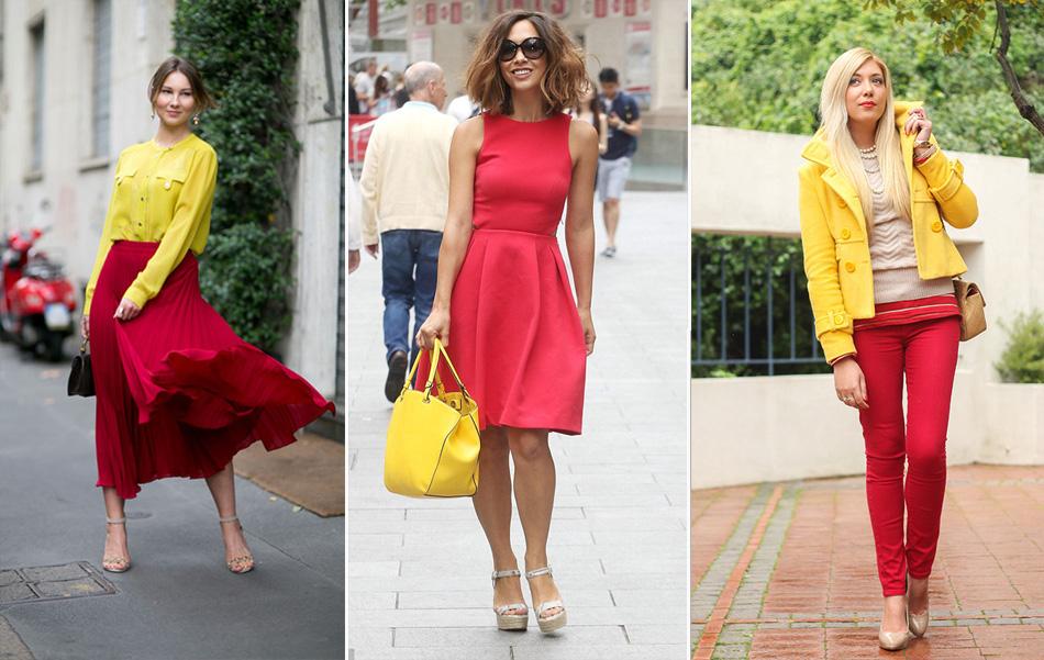 красный с желтым цветом