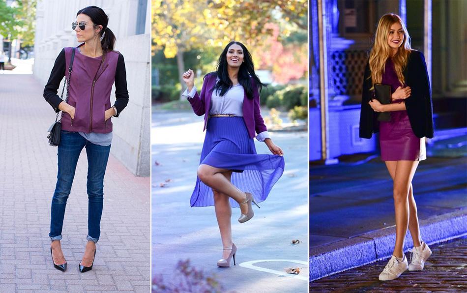 фиолетовый с синим fashion look