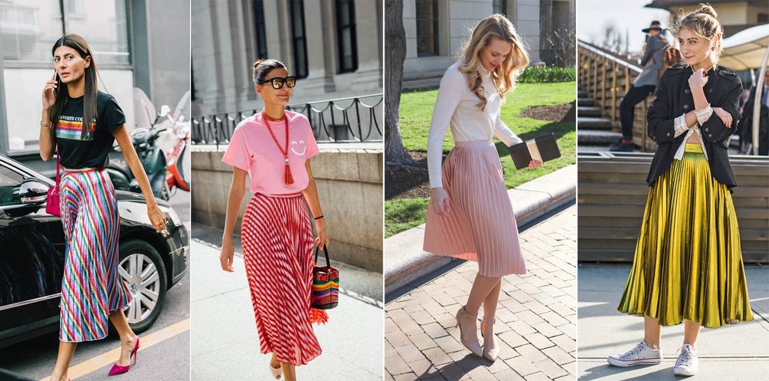плиссированные юбки летом