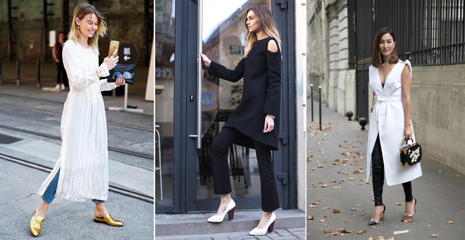 обувь к платью с брюками