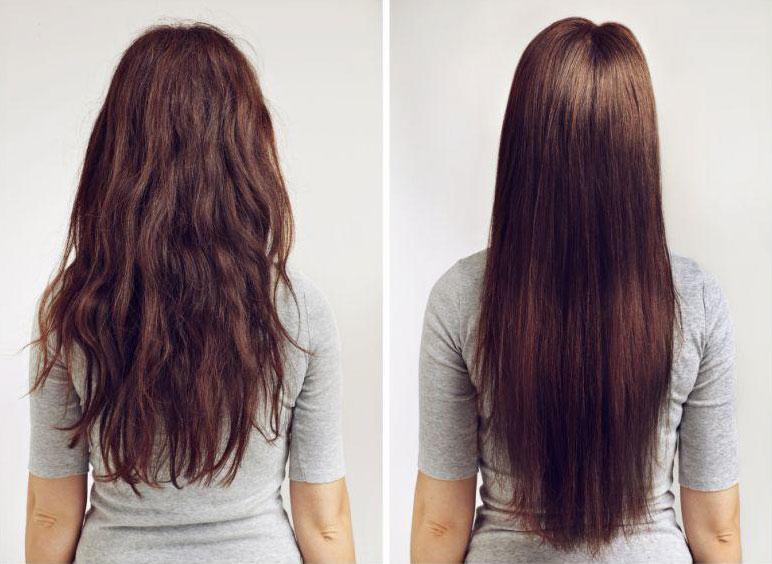 коллагеновое выпрямление волос - фото до и после
