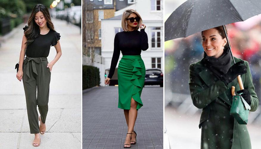 зеленый и черный цвета