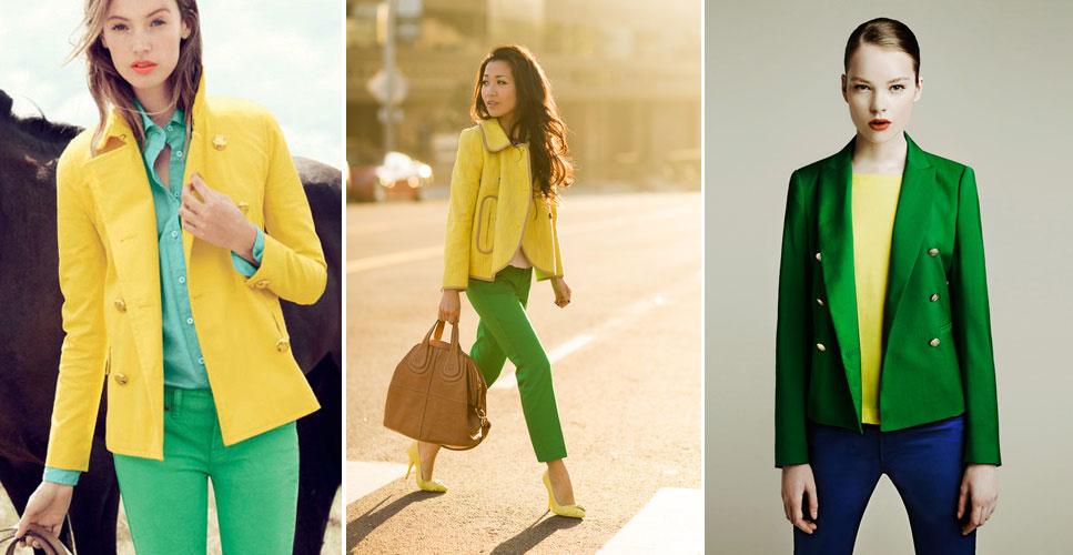 зеленый и желтый в одежде, фото