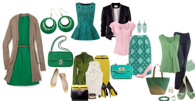 С какими цветами сочетается зеленый в одежде?