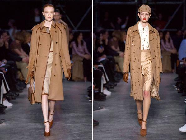 бежевые и коричневые пальто