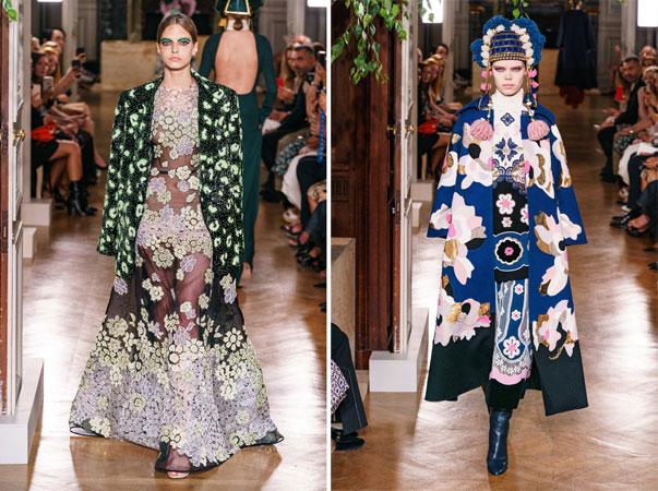 высокая мода - пальто с цветочным принтом