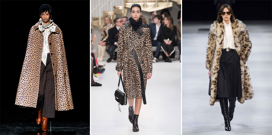 леопардовый принт на пальто