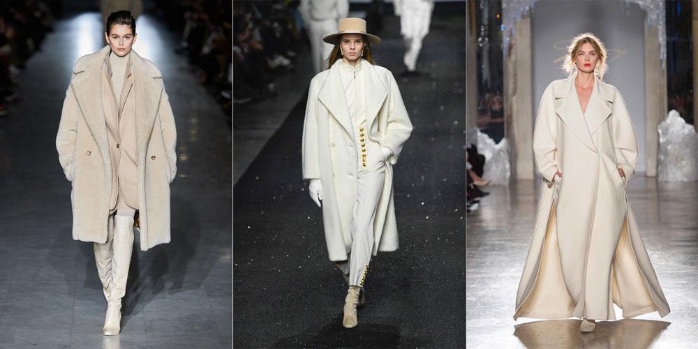 модные белые пальто фото